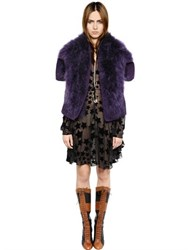 Sonia Rykiel Turkey Feather Fur Effect Cape