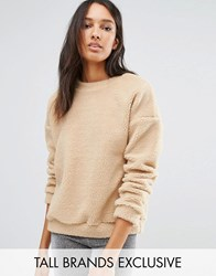 One Day Tall Allover Faux Shearling Jumper Camel Beige