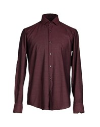 Boss Black Shirts Shirts Men Maroon