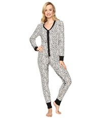 Bedhead Long Sleeve Classic One Piece Ivory Gray Mighty Jungle Women's Jumpsuit And Rompers One Piece