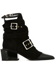 Sacai Belted Ankle Strap Boots Black