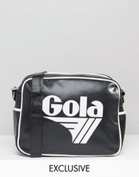 Gola Classic Redford Messenger Bag In Black And White Black And White Multi