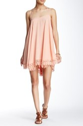 Flying Tomato Crochet Trim Spaghetti Strap Dress Pink