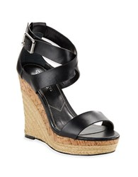 Charles By Charles David Adament Espadrille Wedges Black