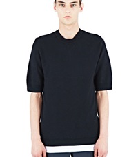 Aiezen Cashmere And Silk Knit T Shirt Black