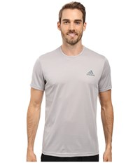 Adidas Essential Tech Crew Tee Medium Grey Heather Vista Grey Men's T Shirt Gray