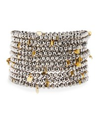Nakamol Multi Row Crystal Stretch Bracelet No Color