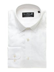 New And Lingwood Fine Twill Formal Shirt White