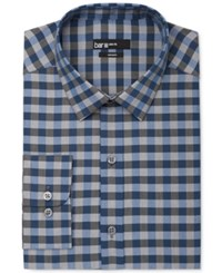 Bar Iii Men's Slim Fit Multi Check Dress Shirt Only At Macy's Storm Blue