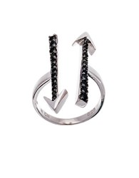 Lord And Taylor Cubic Zirconia Double Arrow Cuff Ring Silver