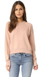 Alexander Wang Crop Crew Neck Sweater Peach