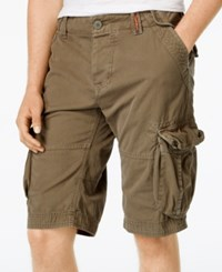 Superdry Men's Core Camouflage Cargo Shorts Battalion Green