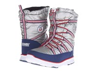Khombu Alta Usa Silver Red Blue Women's Shoes White