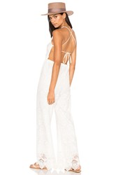 Nightcap Coconut Palm Jumpsuit White