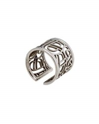 Poiray 18K White Gold Wire Heart Band Ring Size 6.5