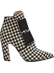 Viktor And Rolf Houndstooth Booties Black