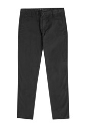 French Connection Sam Slim Cotton Trousers Black