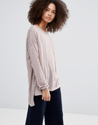 Vero Moda Altha Boxy Long Sleeved Top Rose Dust Pink
