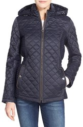 Women's Laundry By Design Quilted Jacket With Detachable Hood Pretoria Navy