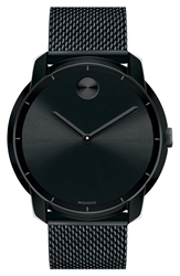 Movado 'Bold' Mesh Strap Watch 44Mm Black