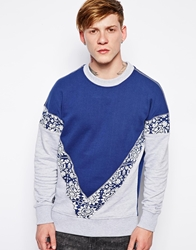 The Cuckoo's Nest The Cuckoos Nest Sweatshirt With Survival Of The Fittest Back Print Blue