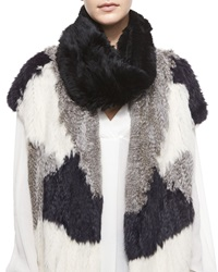 Vince Rabbit Fur Infinity Scarf