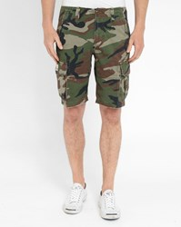 Denim And Supply Ralph Lauren Camouflage Cargo Bermuda Shorts Khaki