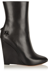 Givenchy Mina Polished Leather Wedge Boots
