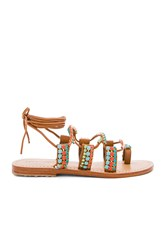 Mystique Beaded Sandals Tan