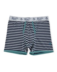 Penguin Striped Jersey Boxers Navy White