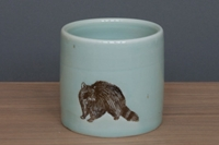 Celadon Raccoon Cup By Sktceramics On Etsy
