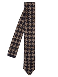 Missoni Hound's Tooth Knit Tie Navy Multi