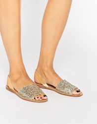 Pieces Psevey Gold Glitter Leather Sandals Glitter Gold
