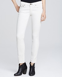 Rag And Bone Rag And Bone Jean Tomboy Crop Mid Rise Skinny Winter White Corduroy Jeans