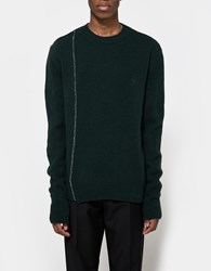 Raf Simons Regular Fit Knitted Roundneck Dark Green