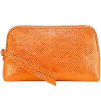 Aspinal Of London Essential Lizard Embossed Leather Cosmetic Case Orange