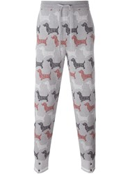 Thom Browne Dog Print Joggers Grey