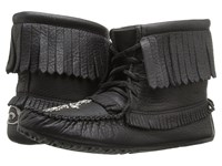Manitobah Mukluks Harvester Moccasin Grain Black Women's Lace Up Boots