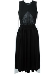 Y 3 Striped Tulle Cape Dress Black