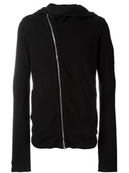 Lost And Found Rooms Off Centre Zip Hoodie Black