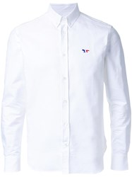Maison Kitsune Tricolour Fox Shirt White