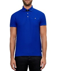 Ted Baker Dino Textured Jersey Regular Fit Polo Bright Blue