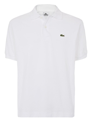 Lacoste Pique Men S Short Sleeve Polo White