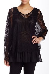 Romeo And Juliet Couture Long Sleeve Lace Cape Black