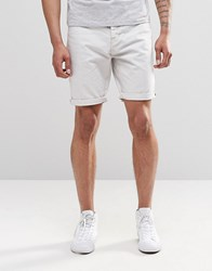 New Look Denim Shorts In Ecru Off White