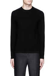 Theory 'Nordan' Nylon Patch Sweater Black