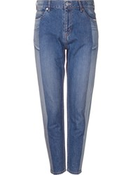 Serge De Blue Two Tone Tapered Jeans Blue