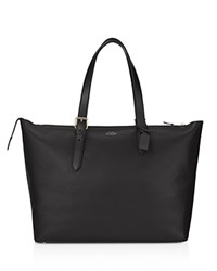 Smythson Leather Tote Black