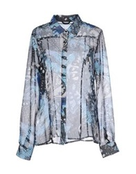 Guess By Marciano Marciano Shirts Blue