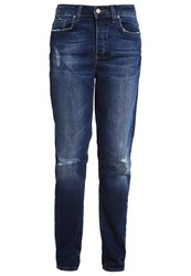 Mavi Jeans Cindy Relaxed Fit Indigo Ripped Country Vintage Blue Denim